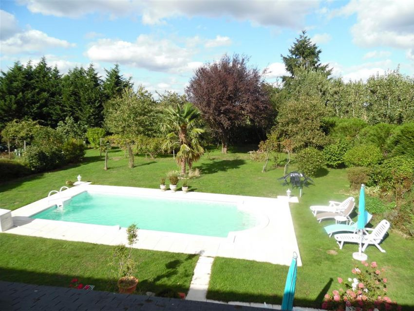 country property south Normandy Pays de Loire Heated pool.