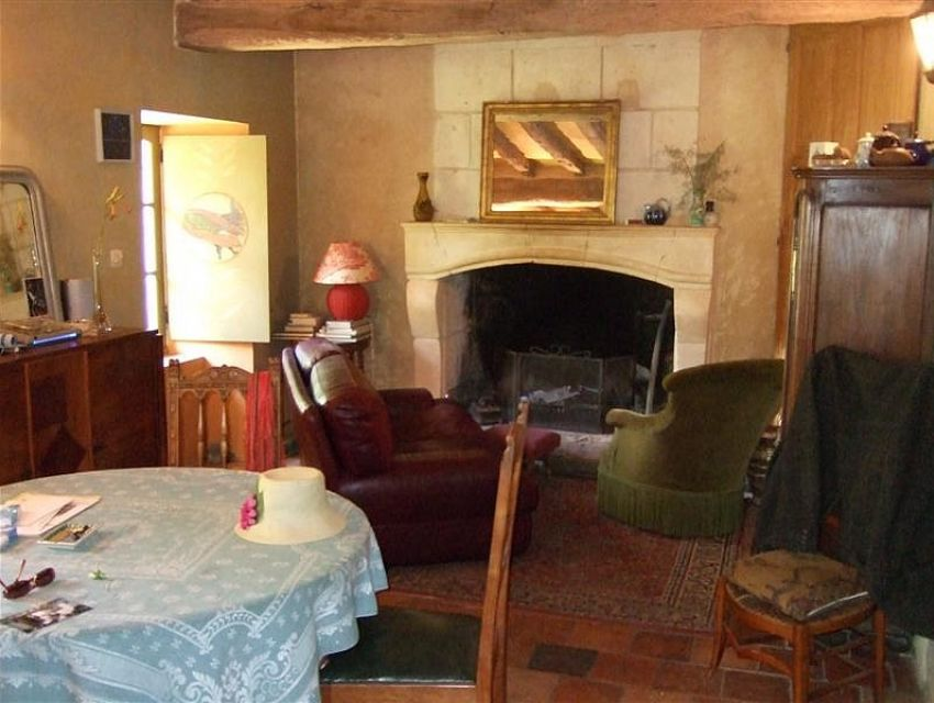 Authentic village property in Pays de Loire - Anjou Area - Fire place and terracotta...